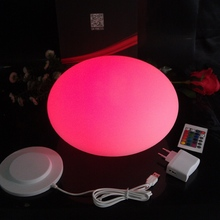 Skybesstech D20*H14cm Mini LED Night Llights Li Rechargeable battery powered Flash Stone ball Egg Lighting free shipping 1pc