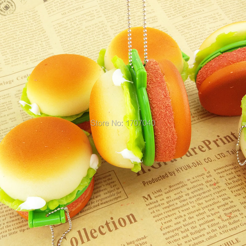 new 6cm cute squishy food toys toys yummy hamburger. Black Bedroom Furniture Sets. Home Design Ideas