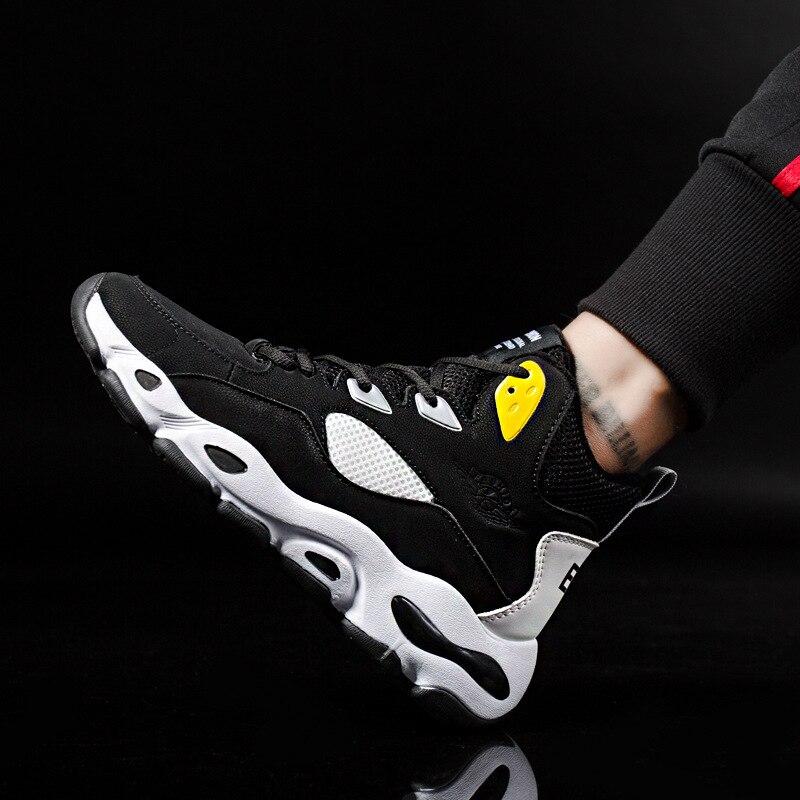 rojo Hombres Alta Zapatillas Tenis Zapatos Bien Hop Entrenador Negro Hip 2019 Arriba Moda Calle Encaje Deporte Plataforma azul De Los w0qq1H