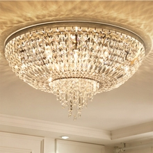 Simple modern bedroom crystal lamp ceiling restaurant lighting creative round study living room Ceiling Lights