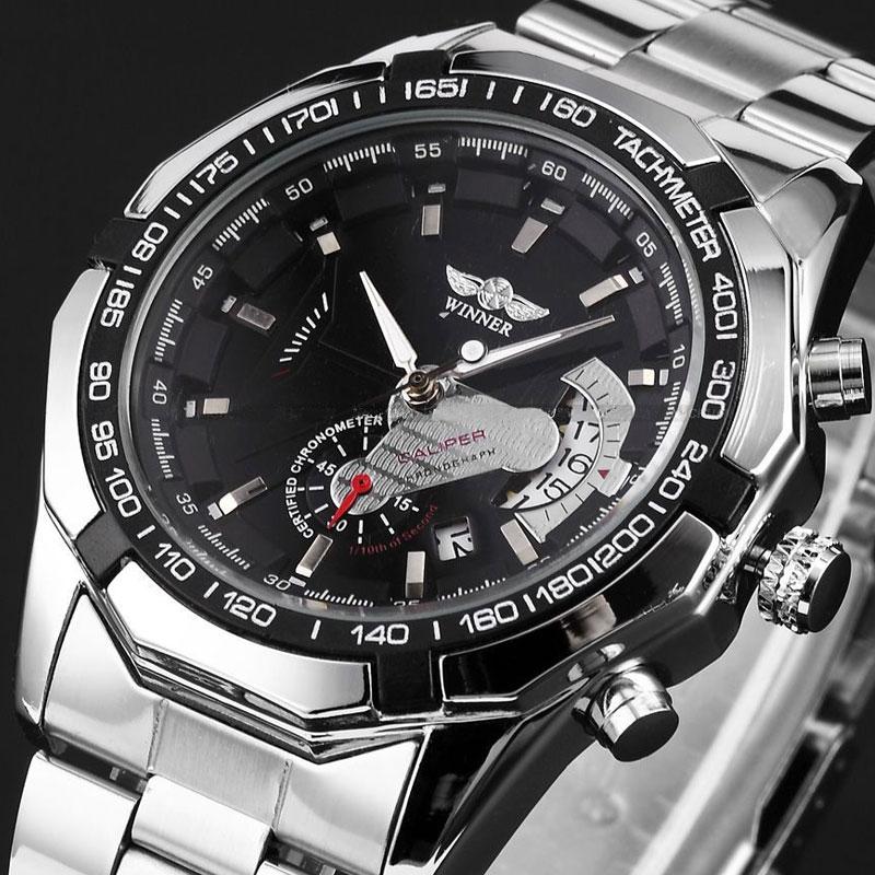 Winner 2016 Luminous Clock Men Automatic Watch Skeleton Military Watch Mechanical Relogio Male Montre Homme Watch Mens Relojes
