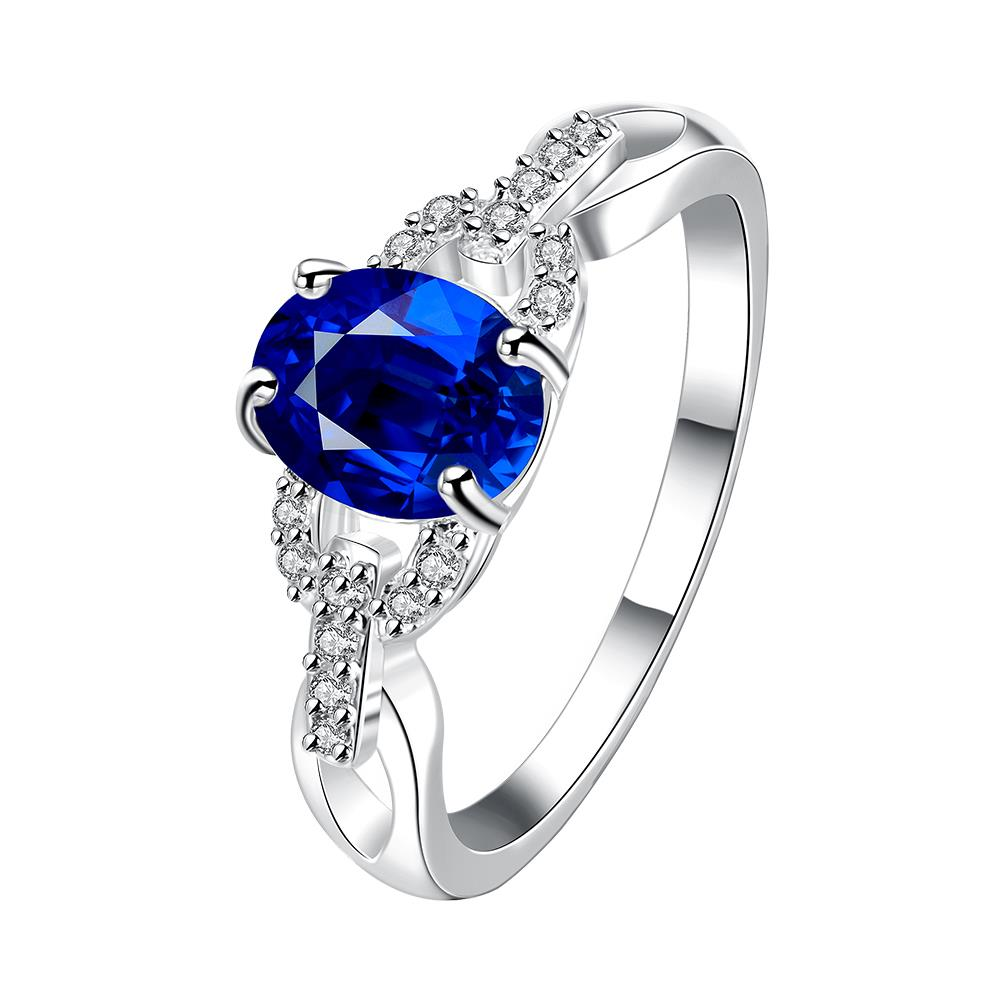 Silver Plated Wedding Rings Blue Magic