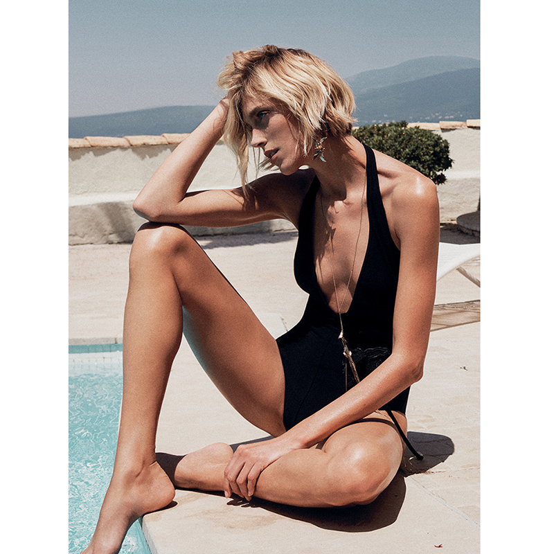 Thin shoulder strap black deep V neck halter sexy tight bodysuit 2019 summer beach vacation women's fashion body-in Bodysuits from Women's Clothing    1