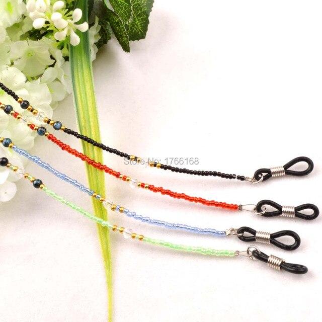 Retail Green,Blue,Red,Black Beaded Steel Wire Rope Eyeglass ...