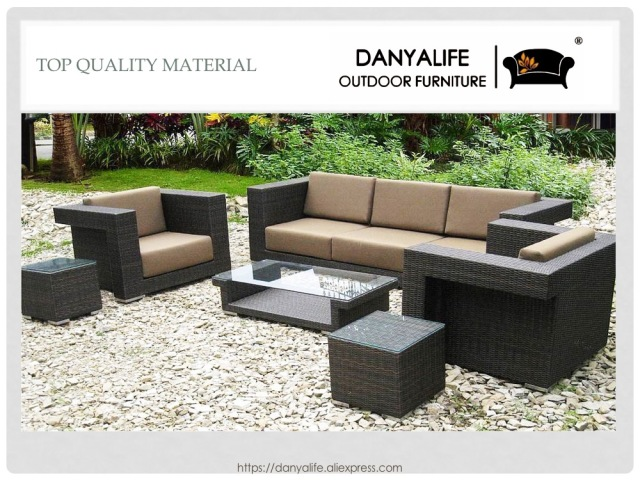 GroBartig DYSF D6507 Danyalife High Quality Outdoor Poly Rattan Garden Sofa Set
