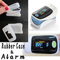+Rubber Case!+ ALARM!!  CE & FDA Fingertip Pulse Oximeter, Blood Oxygen SpO2 saturation oximetro monitor with BP sound