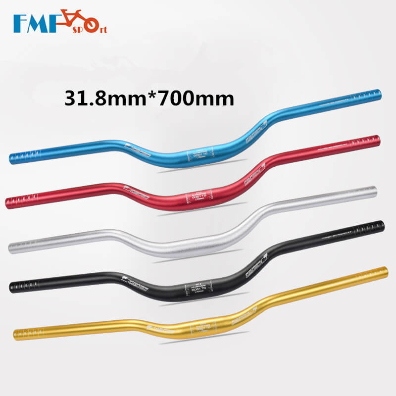 FMF Aluminum Alloy Swallow-shaped Handlebar Bicycle Cycling Riser Bar 31.8*700mm MTB Mountain Road Bike Bent Handlebar