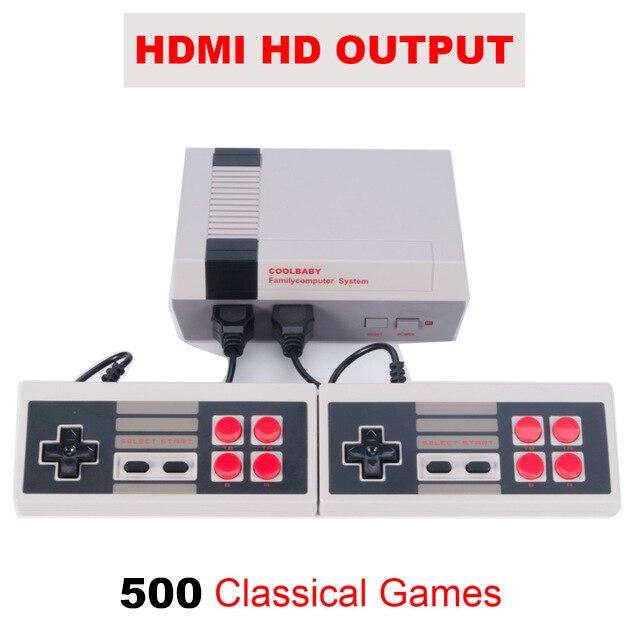 HD HDMI/AV Выход мини ТВ Ручной игровой консоли с 500 различных игр nes встроенный для 4 К ТВ PAL и NTSC