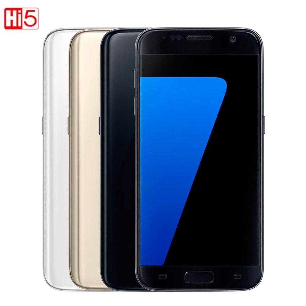 Débloqué Samsung Galaxy S7 bord G935F/G935V mobile téléphone 4 gb RAM 32g ROM Quad Core NFC WIFI GPS 5.5 ''12MP LTE d'empreintes digitales