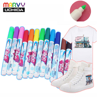 30 Colors Marvy Fabric Markers Pens Non Toxic Bullet Tip Machine Washable Paint on Clothes Clothing Jeans Pants and Shirts