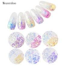 6 caixas de luz sensível mudança cor misturada tamanho flocos camaleão arte do prego brilho 3d manicure uv gel polonês acessórios