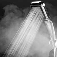Chuva cabeça de chuveiro de poupança água cabeça de chuveiro aço inoxidável 300 buraco filtro spray bico alta pressão do banheiro chuveiro de mão cabeça