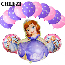 13 pçs/lote Grande Princesa Sofia festa temática Decoração festa de Casamento balões de hélio de aniversário Dot balão de látex brinquedos do miúdo do bebê chuveiro