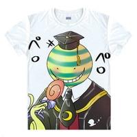2016 New Anime Assassination Classroom T Shirt Men Women Korosensei T Shirts Men Casual Cartoon Tshirt