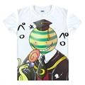 Novo Anime Assassinato ansatsu Korosensei kyoushitu Homens Da Camisa de T Das Mulheres T-Shirt Dos Desenhos Animados da sala de Aula Shiota Nagisa tshirt tops tees