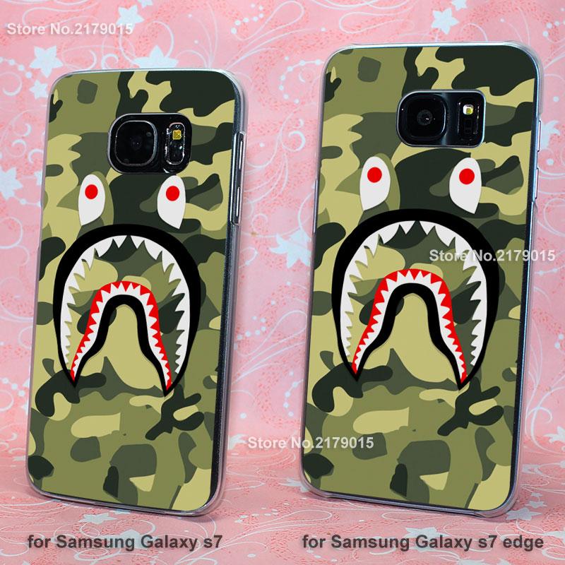camo bape Camouflage transparent clear hard Cover Case Samsung Galaxy s3 s4 s5 mini s6 s7 edge  -  Jomic store