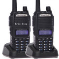 2-PCS New Black  BaoFeng UV-82 Walkie Talkie 136-174MHz & 400-520MHz Two Way Radio - free shipping