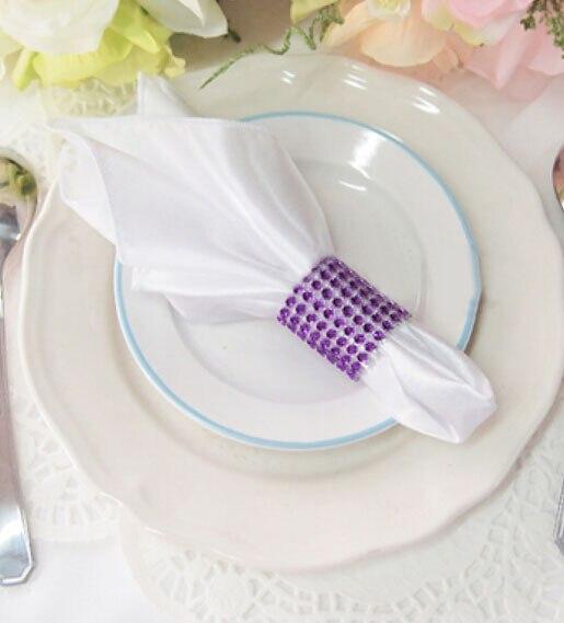 6 Pcs Wedding Party Rhinestone Bling Napkin Ring Diamond Banquet Table Dinner Paper Towel