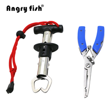 Angryfish Fishing Tool Set Stainless Steel Fishing Grip Fish Controller K2+Multi-Functions Fishing Hook Line Pliers Tackle L3