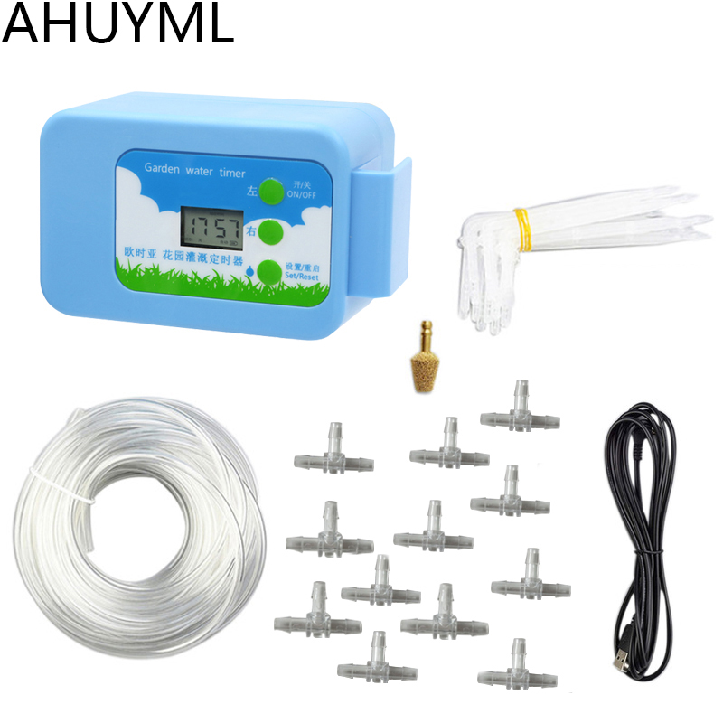 HOT Automatic Watering System Pump Automatic Watering Solenoid Valve Water Timer Garden Watering Timer Irrigation Controller