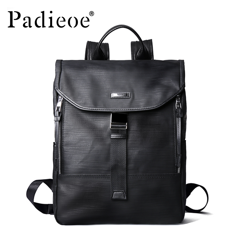 Padieoe New Designer Canvas Men Casual Daypacks Large Waterproof Men's Backpack Famous Brand Rucksack School Bags For Men Women 2017 new winter fashion women down jacket hooded thick super warm medium long female coat long sleeve slim big yards parkas nz18