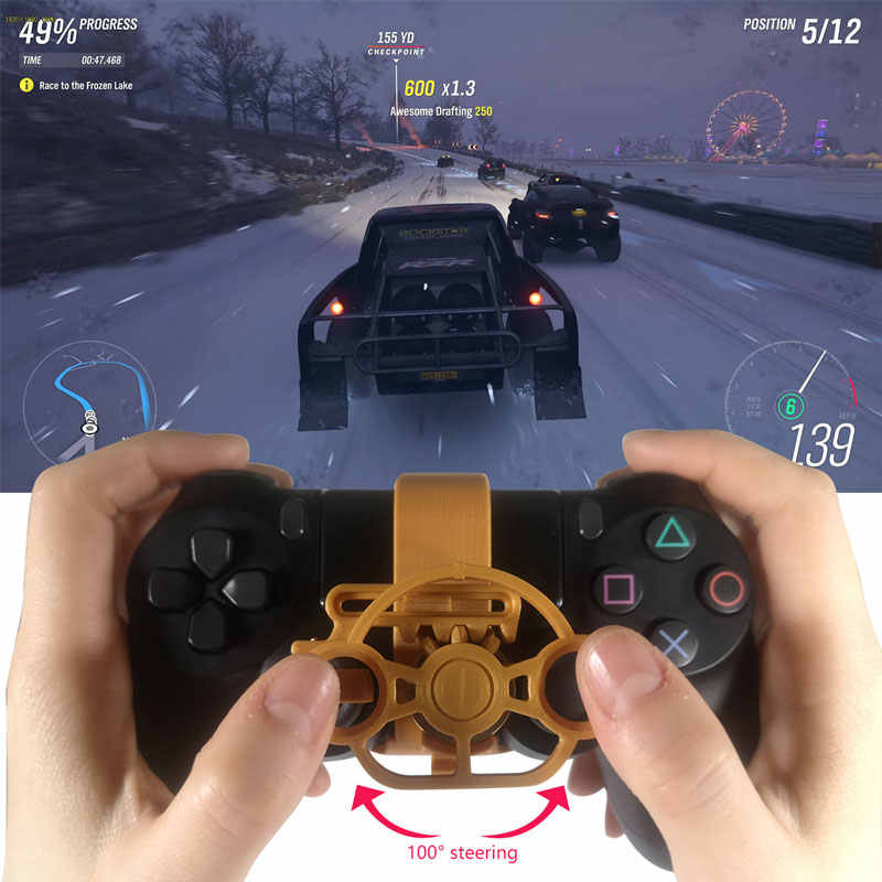 Mini Steering Wheel Game Joystick Racing Games Steering Wheel Simulation Simulator Gamepad Accessories For Sony PlayStation4 PS4