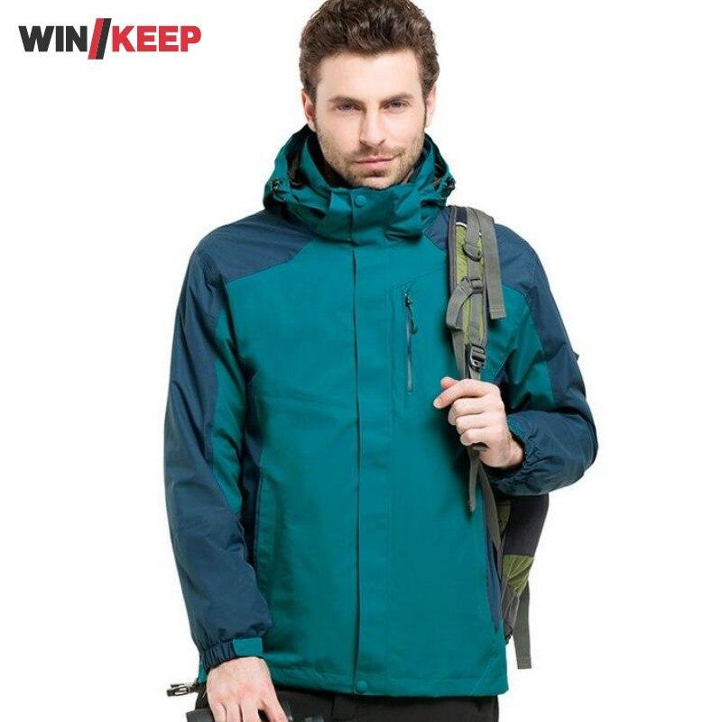 New Warm Mens Camping Hiking Jacket Windbreaker Jacket Men Overcoat Hooded Waterproof Sport Coat Fleece Lined Masculina Casacos indian rope charming party magic set