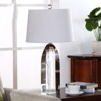 Роскошный Высокое качество K9 Кристалл Настольная лампа прикроватные лампы украшения дома люстры де Cristal AC110 220V lampara led