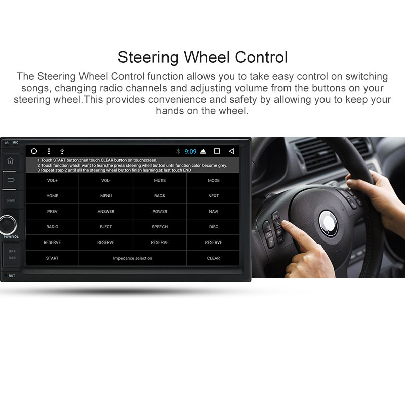 Junsun RAM 2GB 2 Din Android Car Multimedia Radio Player Universale  Intelligent System For Nissan Qashqai X-trail GPS Navigation (SUPER PROMO  July