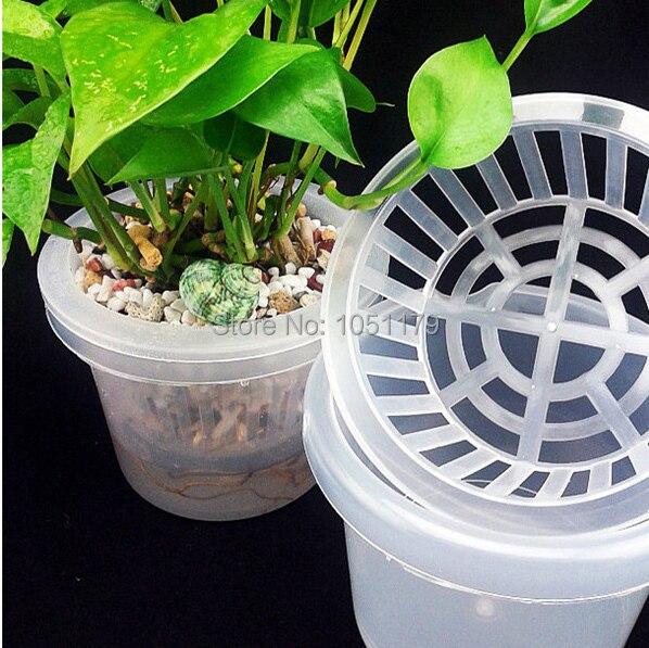 Free Shipping Plastic Hydroponic Planting Mesh Net Pot
