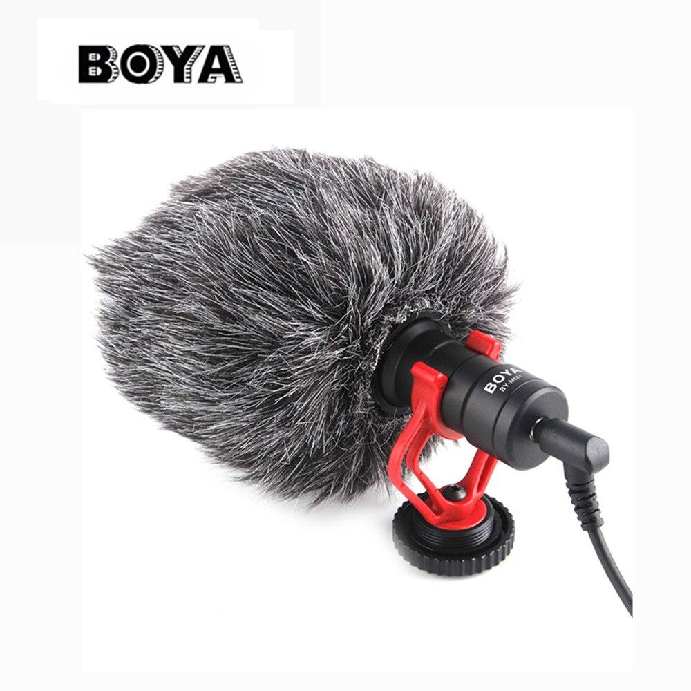 BOYA BY-MM1 micrófono cardioide para Smartphone DJI Osmo Nikon Canon DSLR Youtube Vlogging de grabación 3,5mm cable de audio