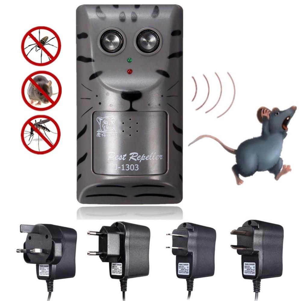 OUTAD практические Дизайн бытовой двойной Электронный ультразвуковой Борьба с вредителями Отпугиватель Мышь насекомых Отпугиватель грызунов инструмент