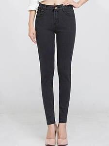 Genayooa Plus Size Denim High Waist Women Jeans Skinny