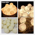 Creamy Cotton BALL Lights Christmas Lights Outdoor LED String Fairy Lights Luces Decorativas De Navidad Home Wedding Decoration