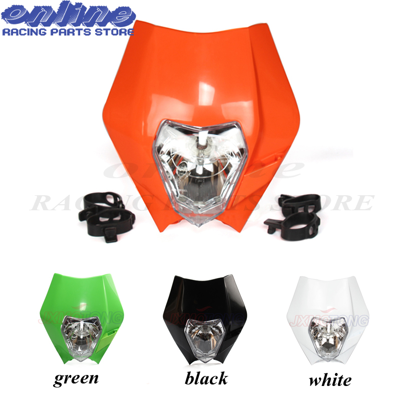 4 Color Universal <font><b>Headlights</b></font> Enduro For KTM XR WR CR RMZ DR DRZ KLX KXF CRF Motorcycle <font><b>Dirtbike</b></font> Motocross Off Road image