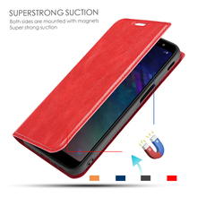 1+7 for Oneplus 7 Pro Case Luxury Business Flip Cover Leather Retro Solid Color Pu Card Slot Wallet Protective