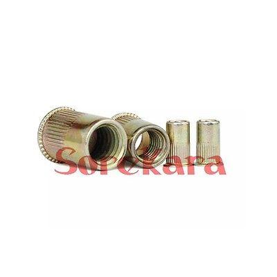 50pcs Nutserts Zinc Plated Steel M3 M4-M10 Countersunk Rivet Nuts Nutsert