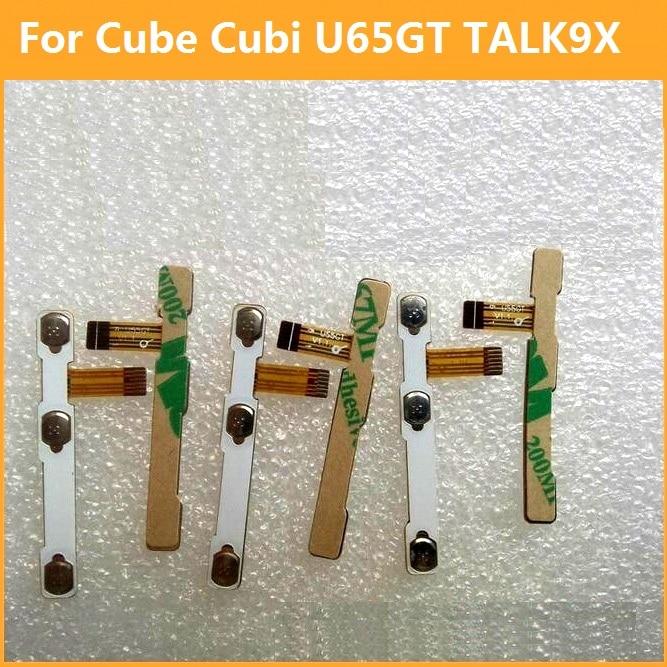 Premium switch on off Power Volume button Flex cable For Cube Cubi U65GT TALK 9X conductive flex with sticker replacement parts pak gret astonishing x men volume 9