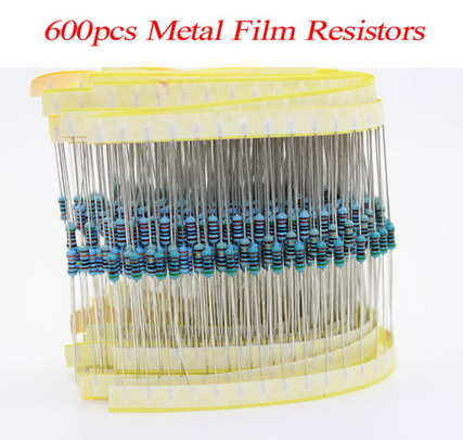 100% new 600pcs/pack 1/4W 30 Kind Metal Film Resistors Assorted kit 1% Each 20 600pcs/pack ,for arduino for raspberry pi, board парафин oneball x wax 5 pack assorted