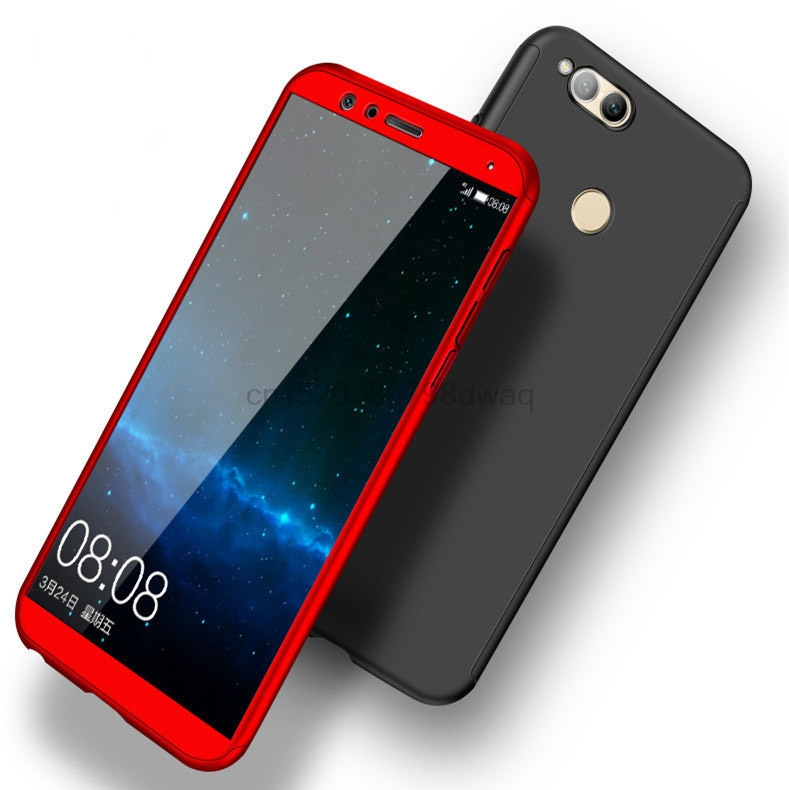 wholesale dealer 2bf64 7b120 US $3.05 15% OFF Case On Honor 7x 360 Full Cover Case For Huawei Honor 7x  Cover On Coque Huawei Honor7x 7 X Phone Cases With Tempered Glass-in Fitted  ...