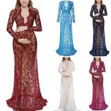 Кружевное платье для беременных; реквизит для фотосессии; Одежда для беременных женщин; Макси-платье для фотосессии; платье для беременных