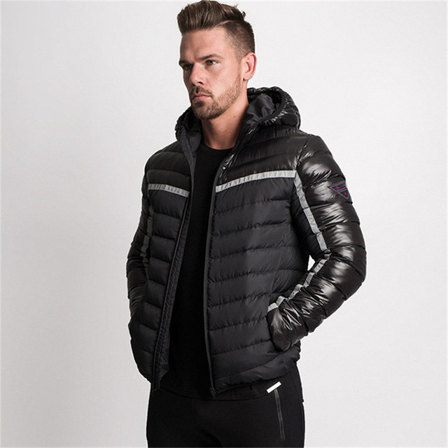 Best Offers 2018 Winter Mens Bodybuilding Running Gyms Casual Jackets Coat Hoodie Basic Men Sports Clothing Fitness Men's Male Clothes Parka