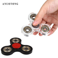 2017 Transparant Fidget Spinner Tri Spinner Toy Acrylic EDC Hand Spinner For Autism And ADHD Anti