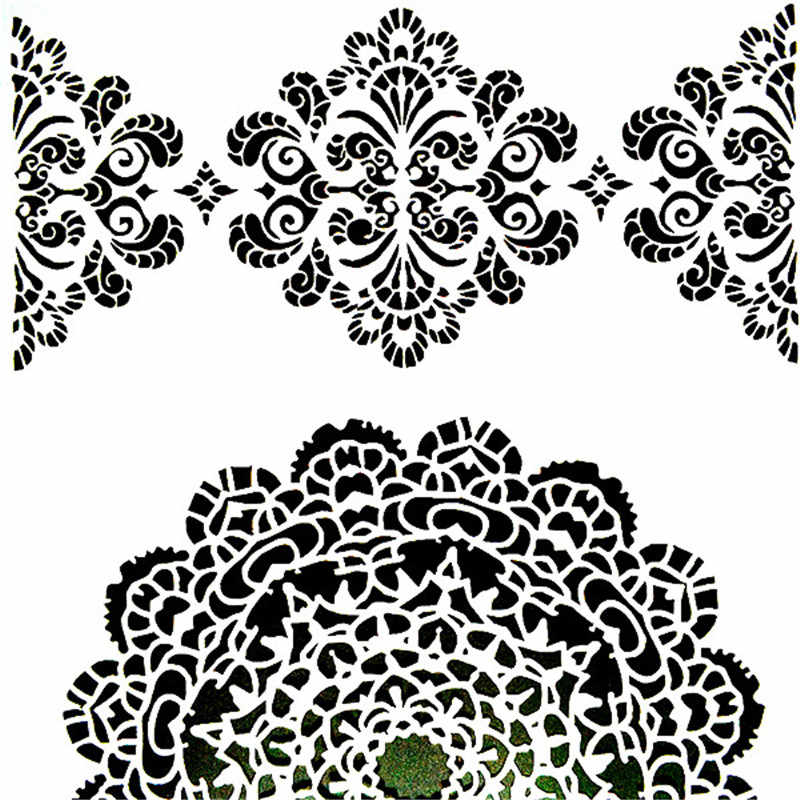 Diy Painting A4 Size Mandala Stencil Template For Wall Painting Scrapbooking Stamping Album Decorative Embossing Paper Cards