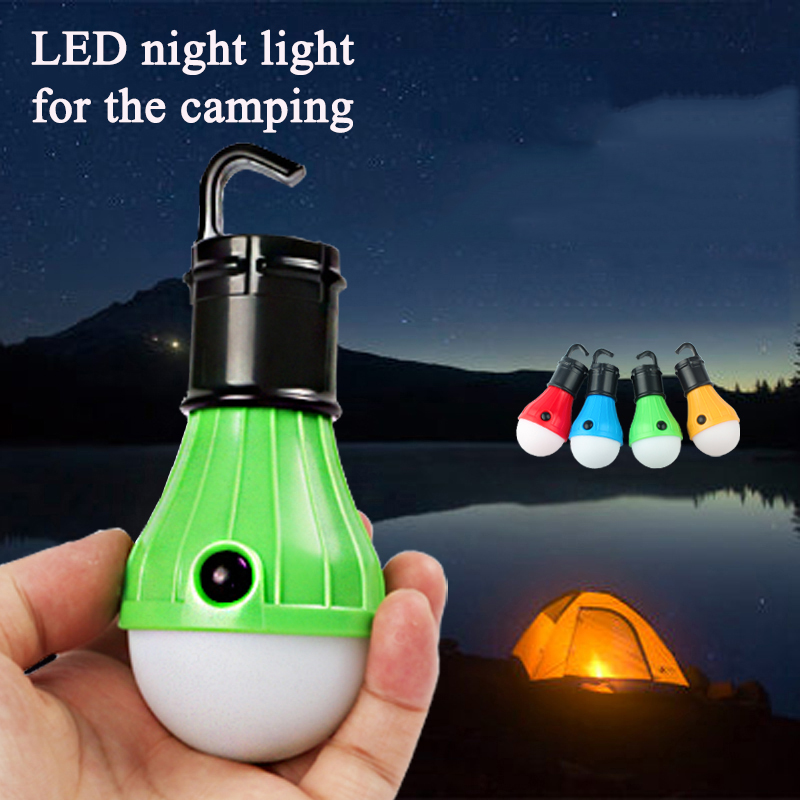 Portable Outdoor Hanging Tent Camping Light night Light LED Bulb Waterproof Lamp Lanterns Night Lights Powered By 3*AAA Battery