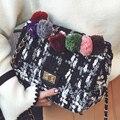 Moda 2017 Pequeno Saco de Doces Bola De Cor Mulheres Messenger Bags Feminino Bolsa Saco de Ombro Das Mulheres Sacos de Embreagem Bolsa Feminina