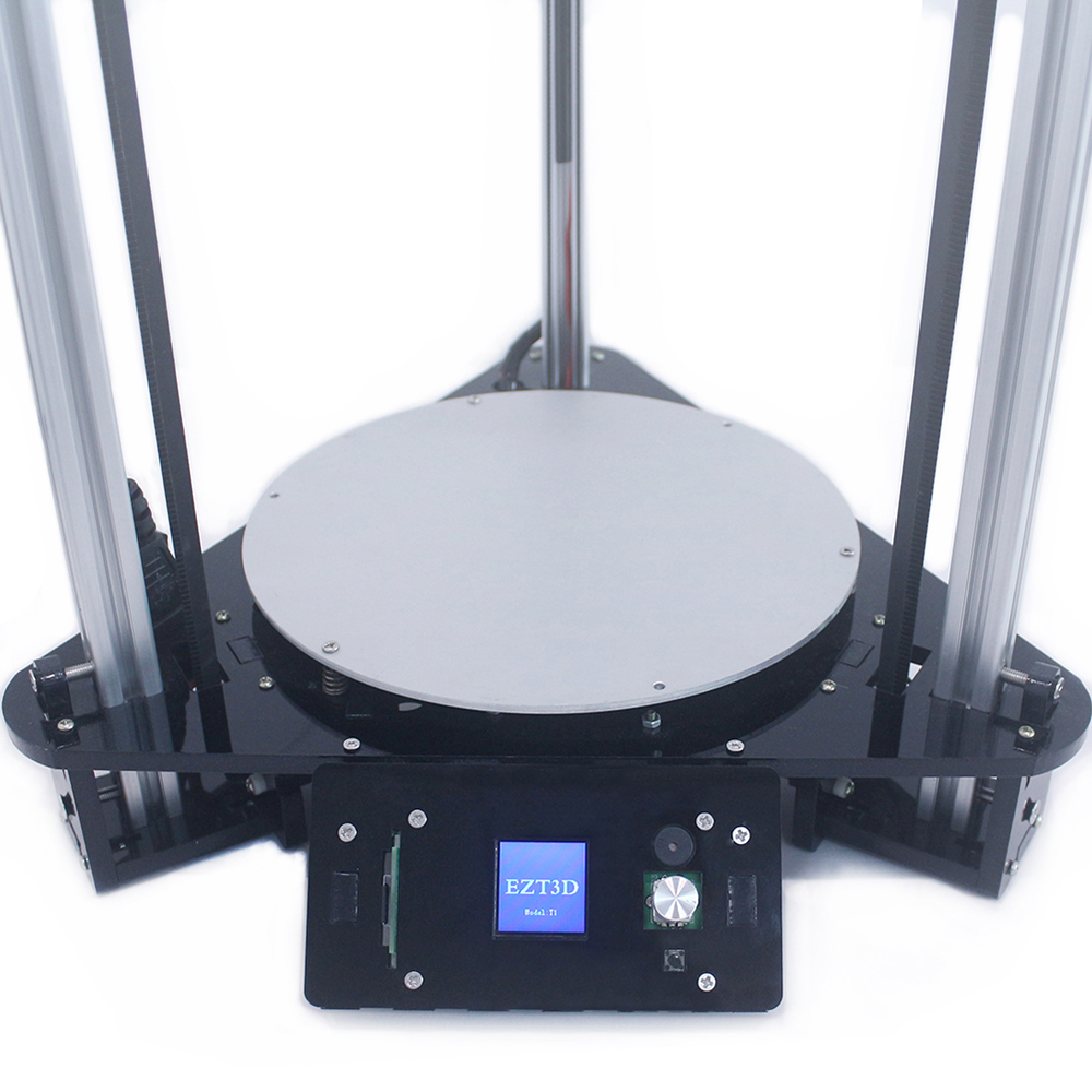 Easy to use T1 kossel diy delta 3d printer kit with multi language 3 5 quot touch screen auto feeding filament smart hotbed leveling in 3D Printers from Computer amp Office