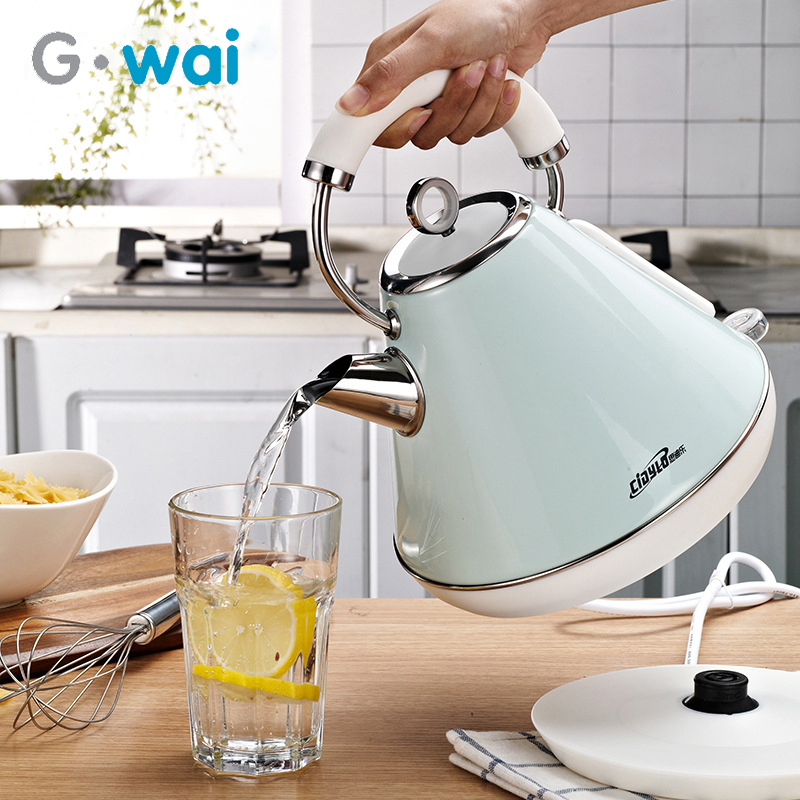 220V Stainless Steel Electric Kettle Anti-scalding 1.8L Home Coffee Teapot Small Appliances Water Pot 1800W