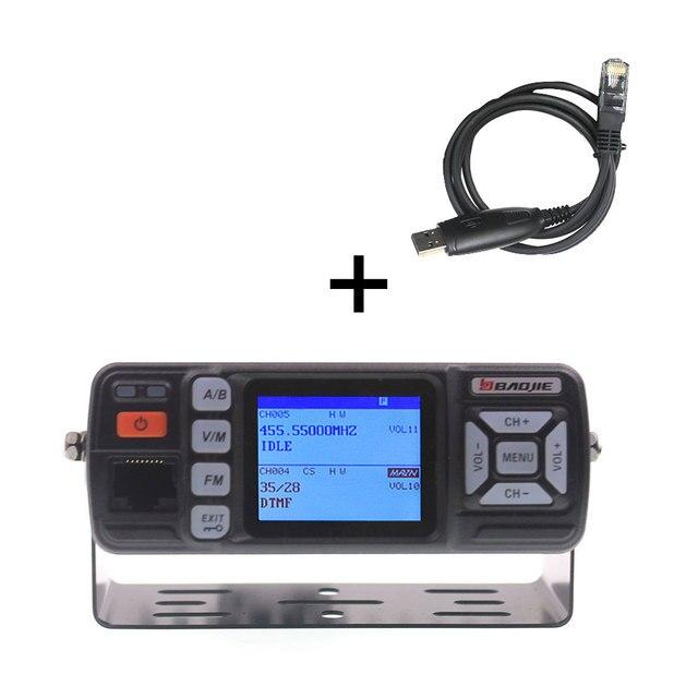 BJ 218 Nâng Cấp VisionBaojie Bộ Đàm BJ 318 25W 2 Băng Tần 136 174 Và 400 490MHz FM Trên Ô Tô đài Phát Thanh BJ318 VHF UHF Mini Radio Di Động