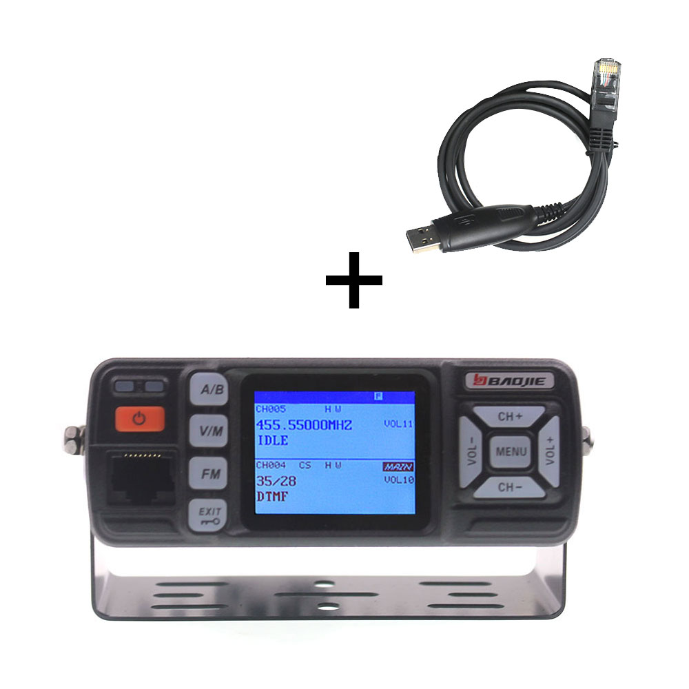 BJ-218 Upgrade visionBaojie Walkie Talkie BJ-318 25W Dual Band 136-174&400-490MHz Car FM Radio BJ318 VHF UHF Mini Mobile radio